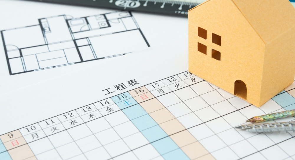 「一戸建て」外壁塗装の工程や日数について